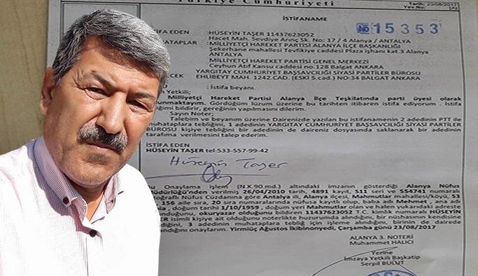 MHP'li eski Başkan istifa etti