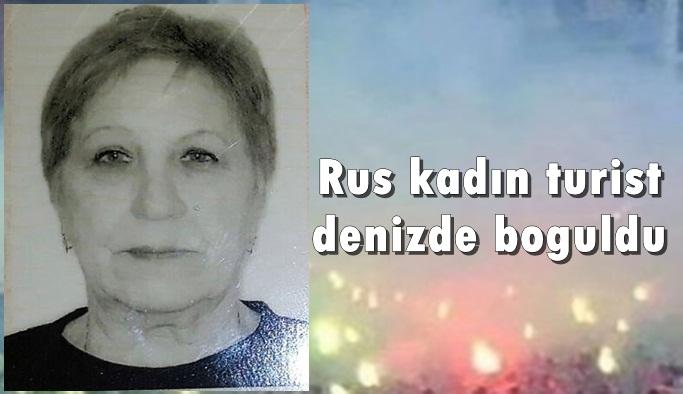 Rus kadın turist denizde boğuldu