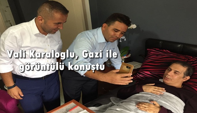Vali ile Gazi görüntülü konuştu