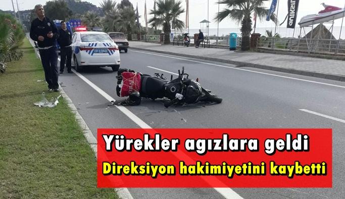 Alanya'da yürekleri ağızlara getiren kaza!