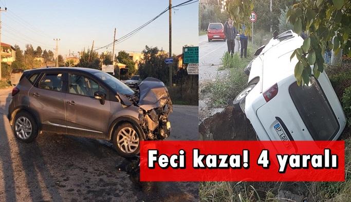 Korkunç kaza: 4 yaralı