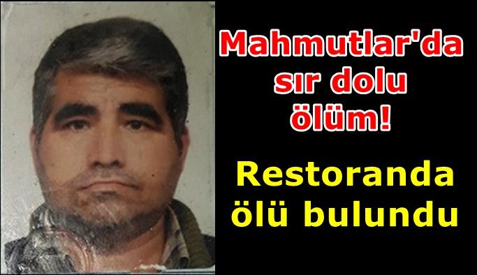Mahmutlar'da şok eden ölüm!