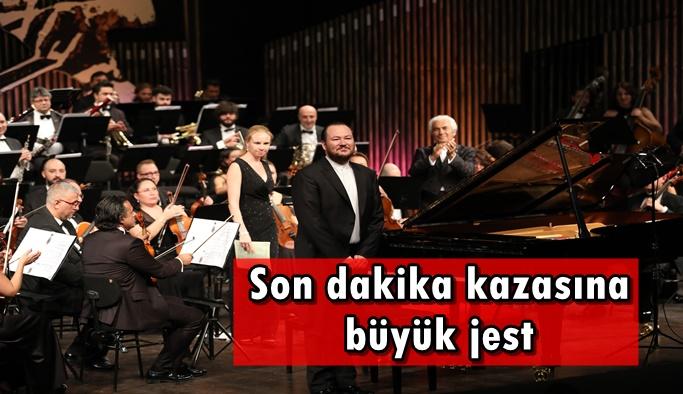 Piyano festivalinde son dakika kazasına büyük jest