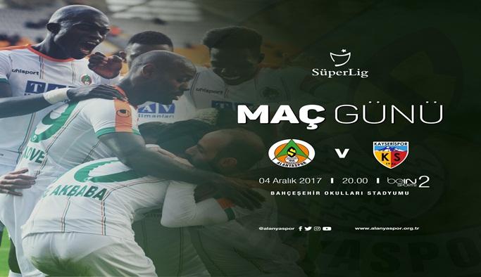 Alanyaspor Kayserispor maçı bu akşam