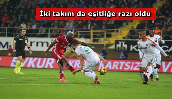 Alanyaspor Sivasspor ile 1-1 berabere kaldı