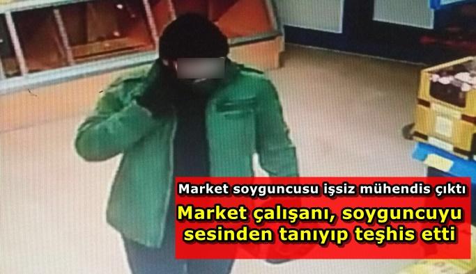 Markete giren hırsız herkesi şaşırttı