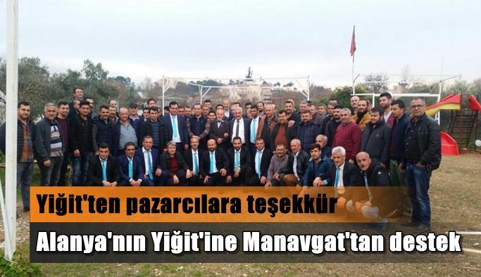 Alanya'nın Yiğit'ine Manavgat'tan destek