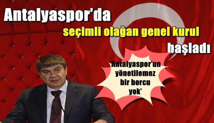'Antalyaspor'un yönetilemez bir borcu yok'