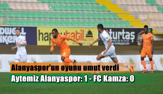 Aytemiz Alanyaspor: 1 - FC Kamza: 0
