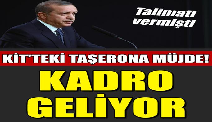 Erdoğan talimatı vermişti! Kadro geliyor