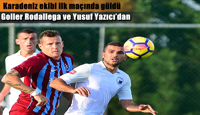 Trabzonspor Luftetari'yi 2-1 mağlup etti