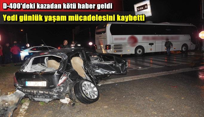 Trafik kazasında yaralanan kadın öldü