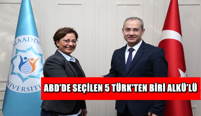 ABD'de seçilen 5 Türk'ten biri ALKÜ'lü