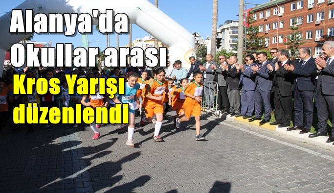 Alanya'da Okullar arası Kros Yarışı düzenlendi