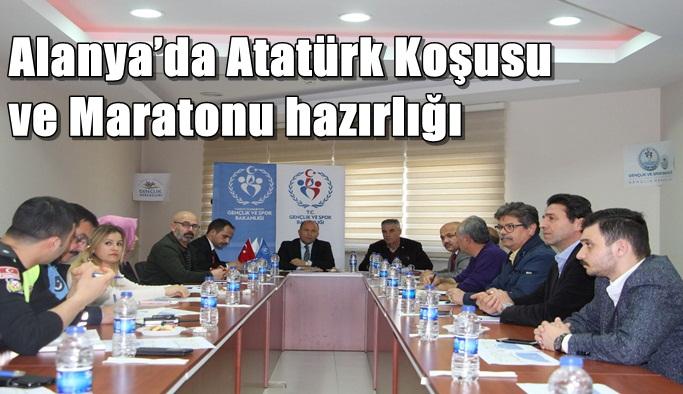 Alanya'da Atatürk Koşusu ve Maratonu hazırlığı