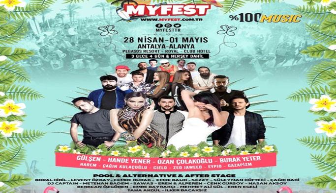 Alanya'da yıldızlar 'Myfest' ile baharı müjdeleyecek