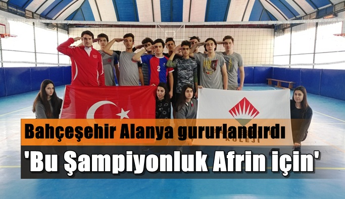 Bu Şampiyonluk Afrin için