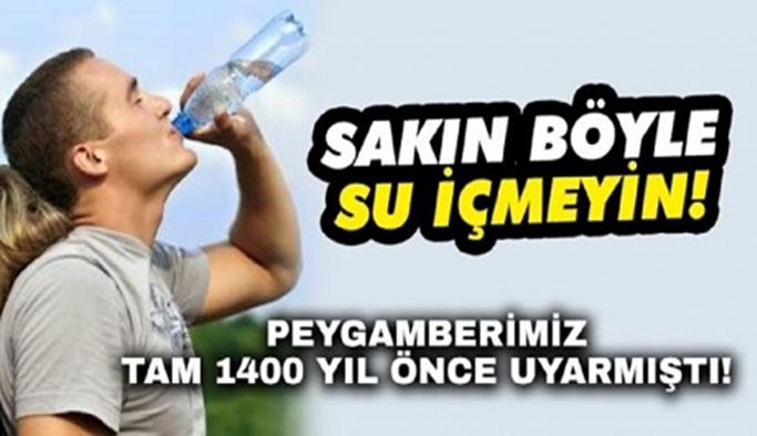 DİKKAT! Sakın böyle su içmeyin!