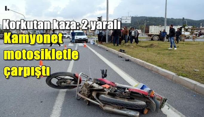 Gazipaşa'da korkutan kaza: 2 yaralı
