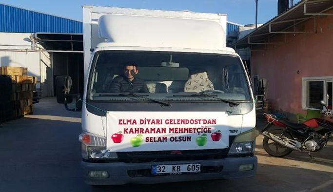 Gelendost'tan Mehmetçiğe 6 ton elma