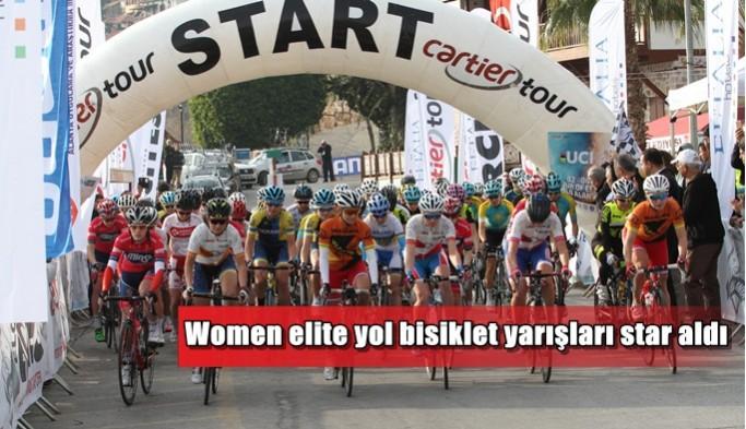 Women elite yol bisiklet yarışları star aldı