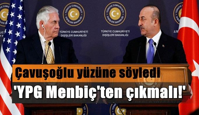 'YPG'nin Menbiç'ten çıkması lazım'