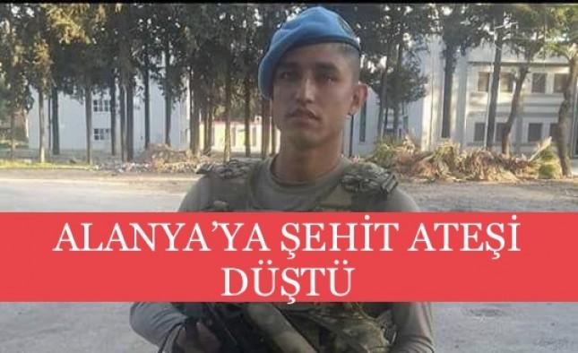 Alanya-Gazipaşa'ya şehit ateşi düştü!