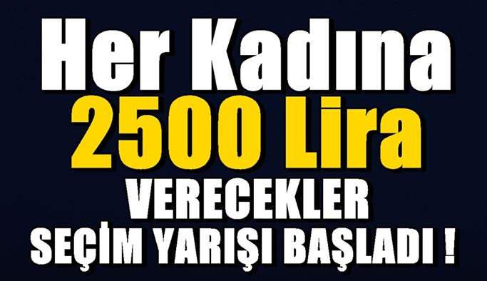Her kadına 2500 lira verecekler! Seçim yarışı başladı!
