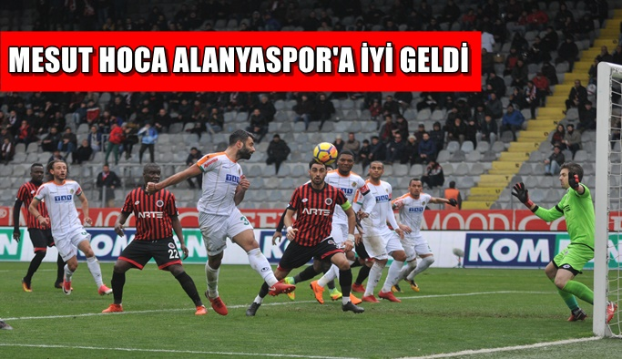 Mesut Hoca Alanyaspor'a iyi geldi! Takım Ankara'dan galip dönüyor