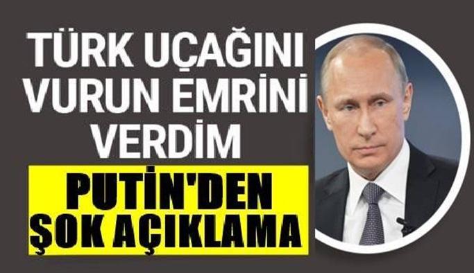 Putin'den yıllar sonra itiraf!