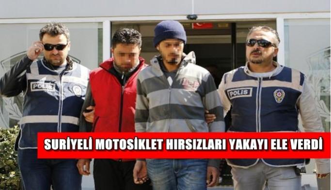 Suriyeli motosiklet hırsızları yakayı ele verdi