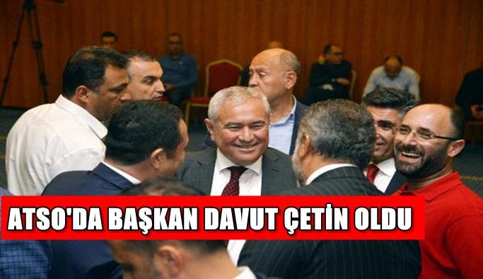 ATSO'da başkan Davut Çetin oldu