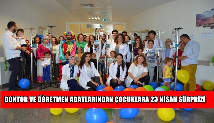 Doktor ve öğretmen adaylarından çocuklara 23 Nisan sürprizi