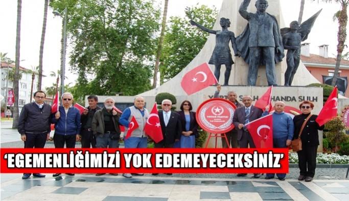 'Egemenliğimizi yok edemeyeceksiniz'