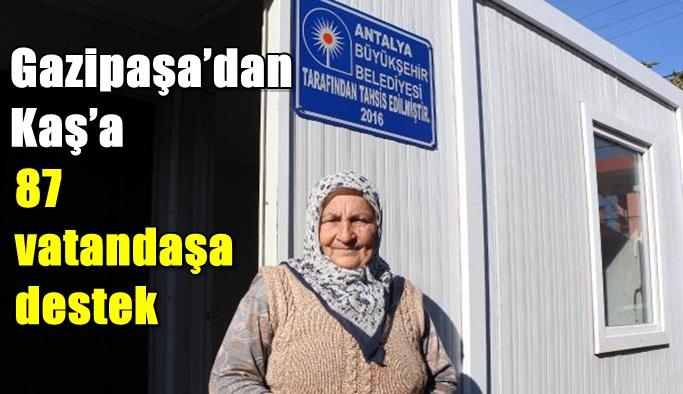 Gazipaşa'dan Kaş'a 87 vatandaşa destek