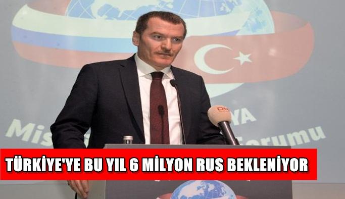 Türkiye'ye bu yıl 6 milyon Rus bekleniyor