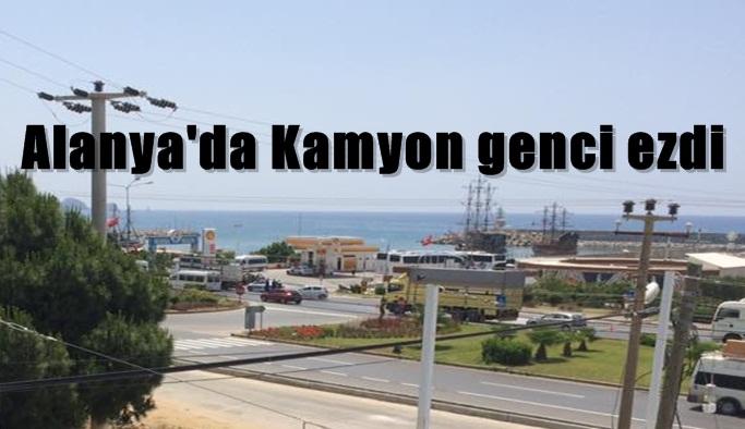 Alanya'da Kamyon genci ezdi