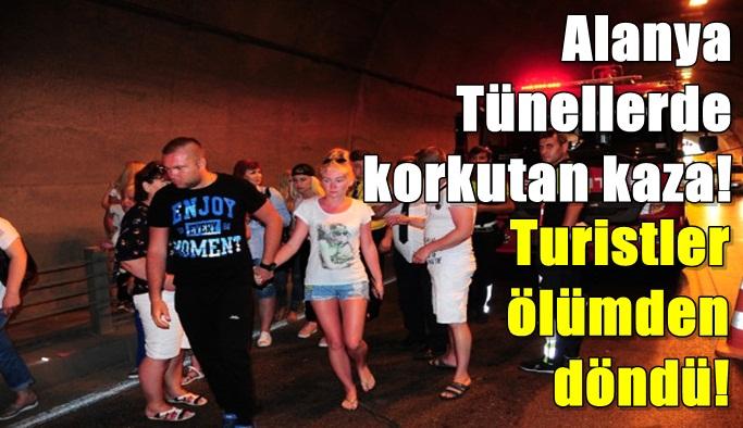 Alanya Tünellerde korkutan kaza: 1 yaralı
