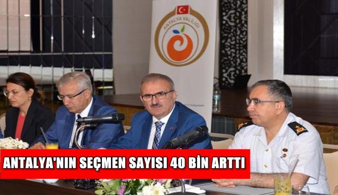 Antalya'nın seçmen sayısı 40 bin arttı