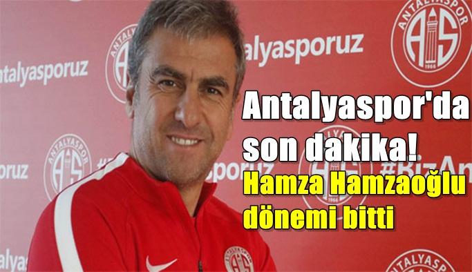Antalyaspor'da son dakika! Hamza Hamzaoğlu dönemi bitti