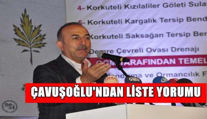 Çavuşoğlu'ndan liste yorumu