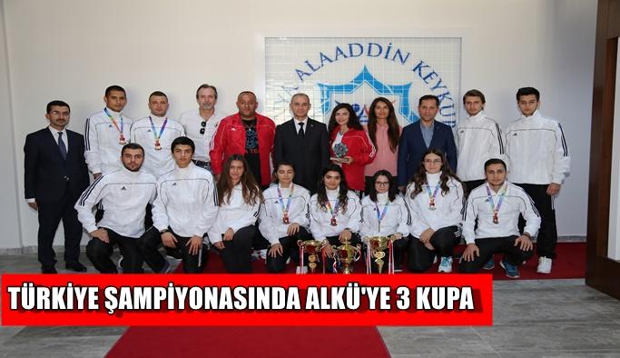 Türkiye Şampiyonası'nda ALKÜ'ye 3 kupa