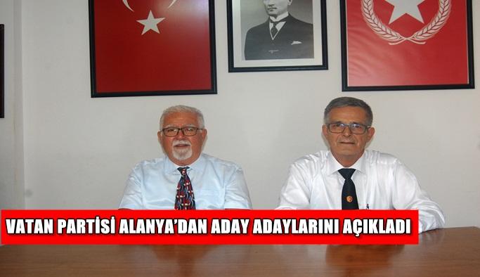 Vatan Partisi aday adaylarını açıkladı