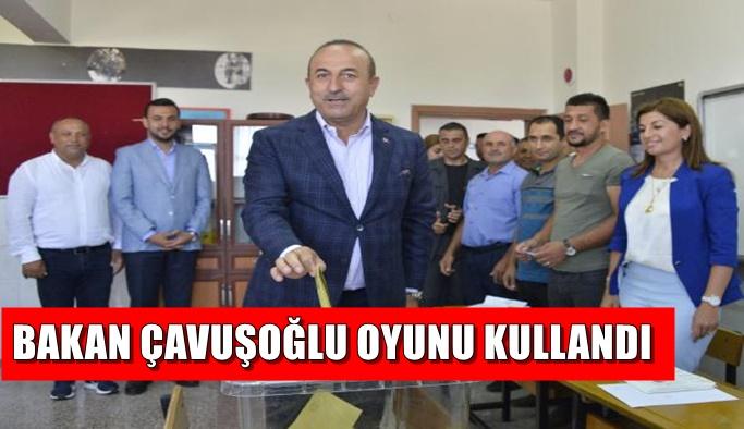 Bakan Çavuşoğlu da oyunu kullandı