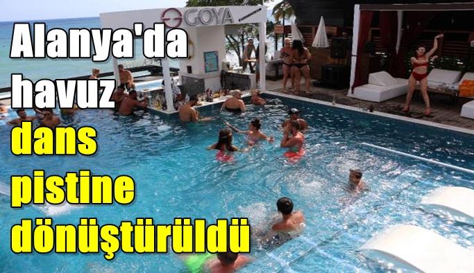 Alanya'da havuz, dans pistine dönüştürüldü