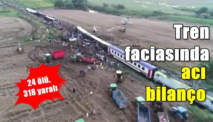 Tren faciasında acı bilanço: 24 ölü, 318 yaralı