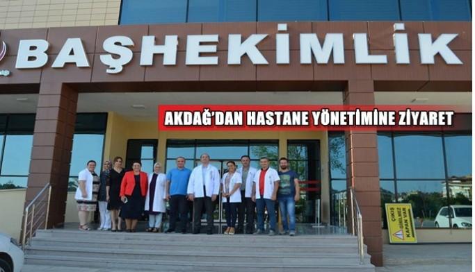 Akdağ'dan hastane yönetimine ziyaret.