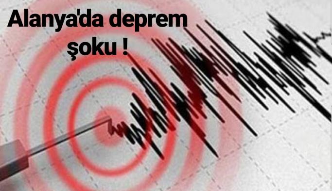 Alanya'da deprem şoku !