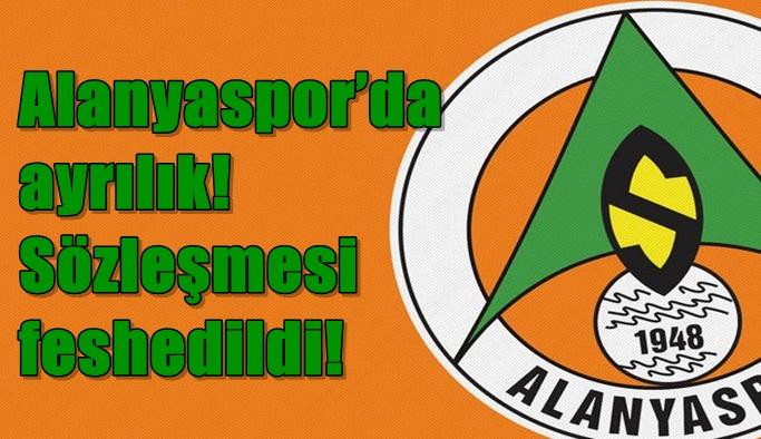 Alanyaspor'da ayrılık! Sözleşmesi feshedildi!