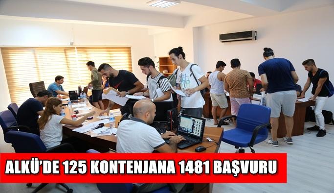 ALKÜ'de 125 kontenjana 1481 başvuru